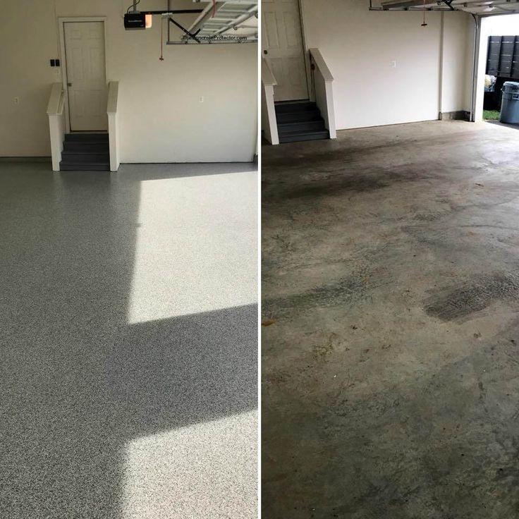 Decorative Concrete Garage- Tailored Concrete Coatings- Boyce VA