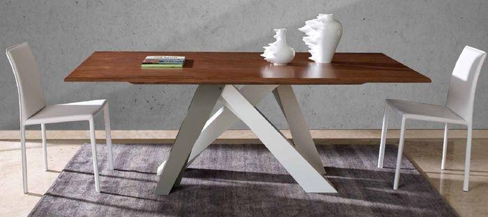 tavolo moderno in legno e metallo BIG GUARANTEE by GIOGATZIS