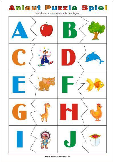 11 besten alphabet spielerisch lernen bilder auf pinterest alphabet ausdrucken und lernen. Black Bedroom Furniture Sets. Home Design Ideas