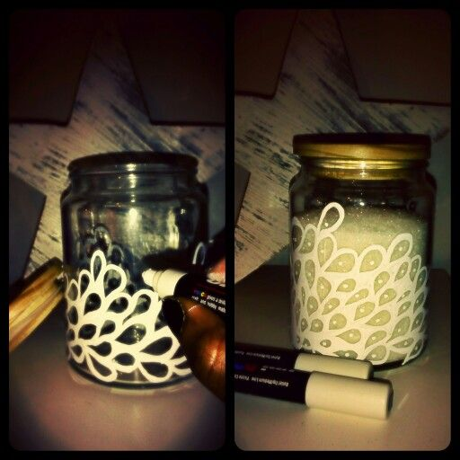 DIY jar decor