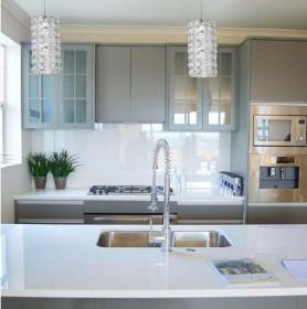 aranżacja wnętrz - Wykorzystano oprawę Souffle (P0266-01A)  /oświetlenie kuchni/
