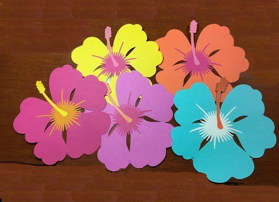 Tropical Flowers 8 Inch Festa Moana Festa Festa Havaiana