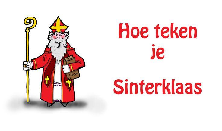 Hoe teken je Sinterklaas