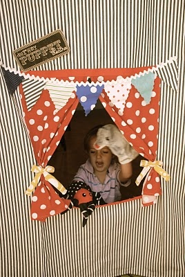 most likely LATE...: Homemade Door Puppet Theater -JUST add SOCKS!