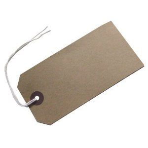 50 MED Brown/Buff (Manilla) Strung 96x48mm Tag/Tie On Luggage Craft Labels 3: Amazon.co.uk: Kitchen & Home