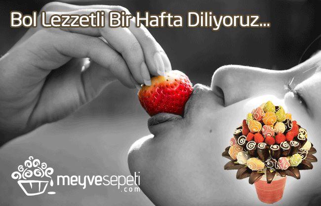 Bol Lezzetli Bir Hafta Dileriz #meyvesepeti #meyvebuketi #happy #smile #fruit www.meyvesepeti.com