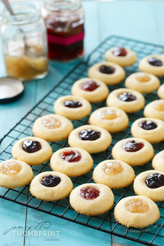 Jam-Filled Thumbprint Shortbread Cookies are a great way to use up leftover jam, or try filling them with salted caramel or nutella!