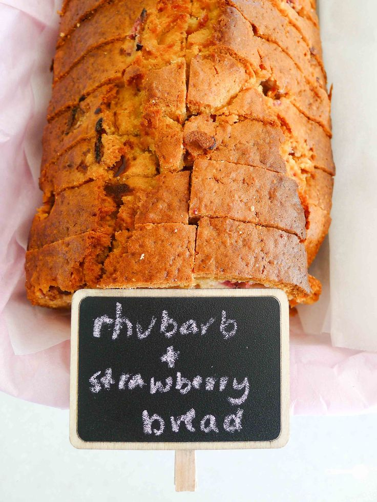 Rhubarb and strawberry loaf (dairy free)