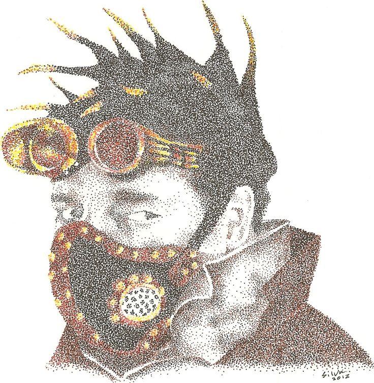 Steampunked Robert - www.sereninspired.com - pointillism