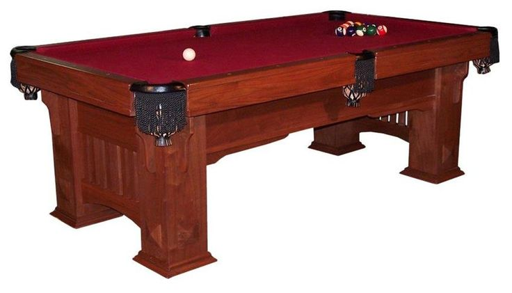 Amish Handcrafted Landmark Mission Billiard Table Enhance your game days with your own custom pool table that you can enjoy playing with your friends and family.This billiard table has a classic Mission warmth that will fit in beautifully in your home.#CustomFurniture #Amishmade