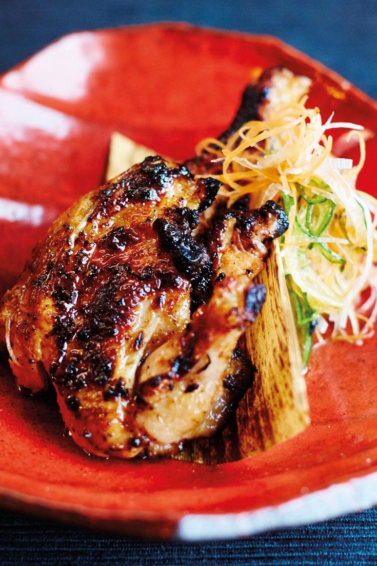 Scott Hallsworth's tasty barbecued poussin recipe is packed with bold Japanese flavours.