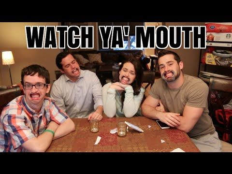 Vlogger Joe Santagato played a hilarious game in which he and a small group friends took turns trying to recite a random string of words with their respective mouths held open by dental cheek retra…