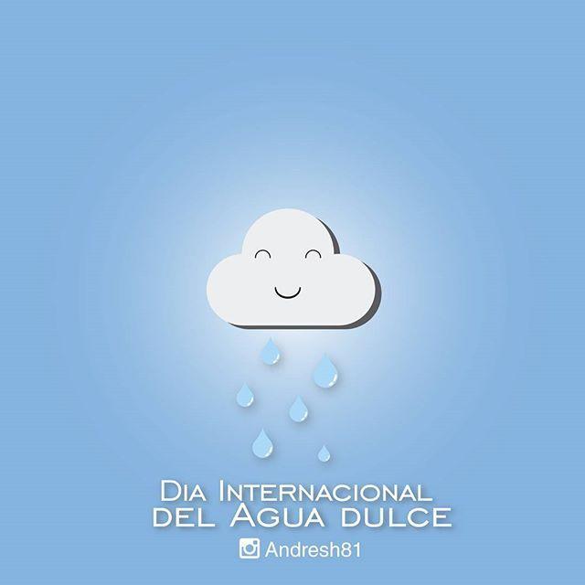 Hoy celebramos el Día Internacional del Agua Dulce  Nuestra nube soñadora le gusta este dia y nos manda un poco de Agua dulce  #agua #dulce #diainternacionaldelagua #vive #sonríe