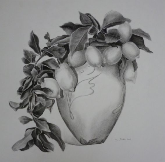 Vase aux citrons