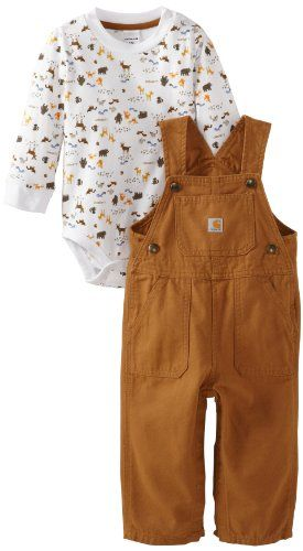Carhartt Baby-boys Infant Washed Canvas Bib Overall Set Animals, Brown, 12 Months Carhartt,http://www.amazon.com/dp/B00BGOO4NI/ref=cm_sw_r_pi_dp_Ti6ftb1946EARDJX