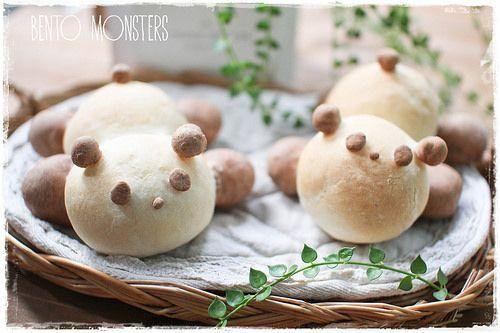 Bento, Monsters: Panda Bread Bun