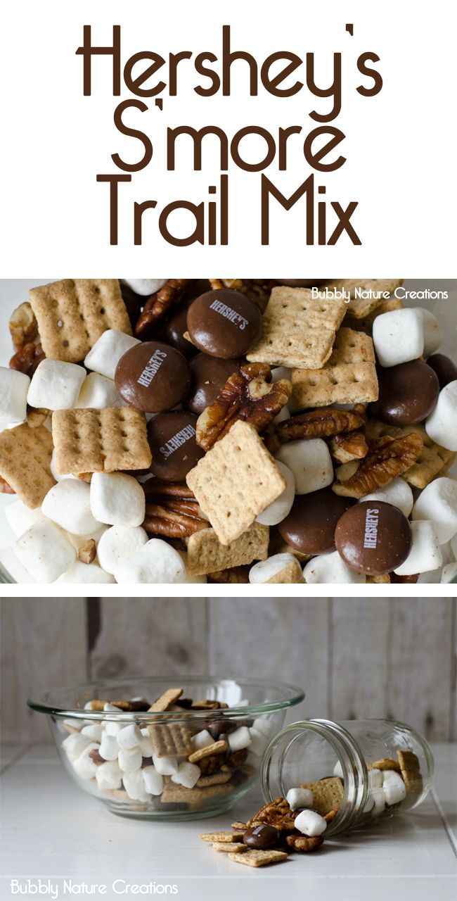 Hershey's S'more Trail Mix - Oooh I want some of this!! {btw, those chocolate hershey's drops in this mix are the BEST!!}