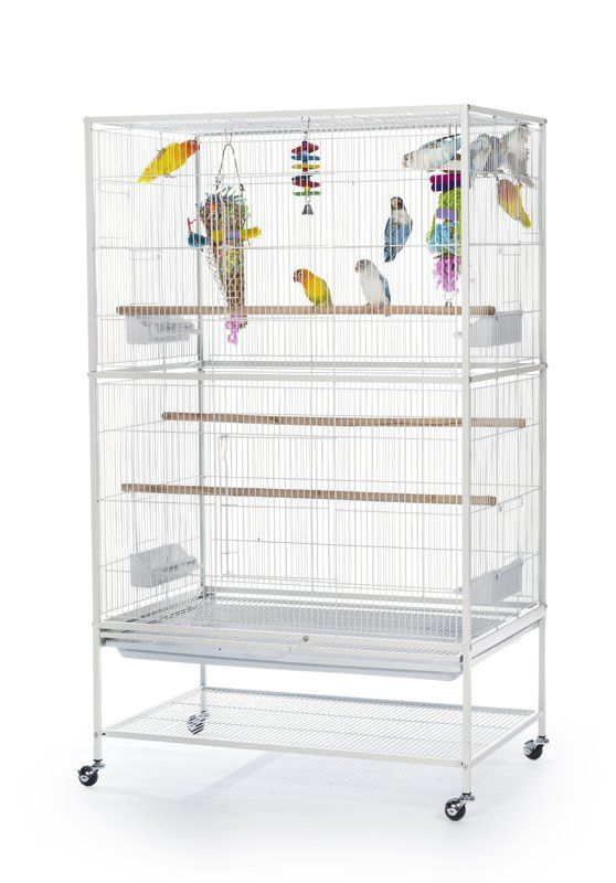 Flight Bird Cage with Storage Shelf