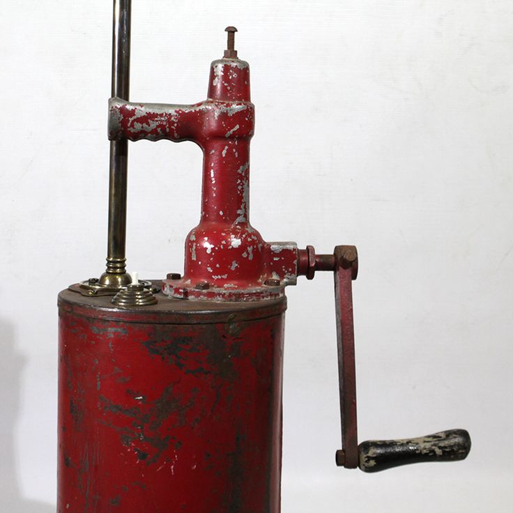 This fabulous pump is now a light!   #recreate #recreatesa #vintage #rustic #red