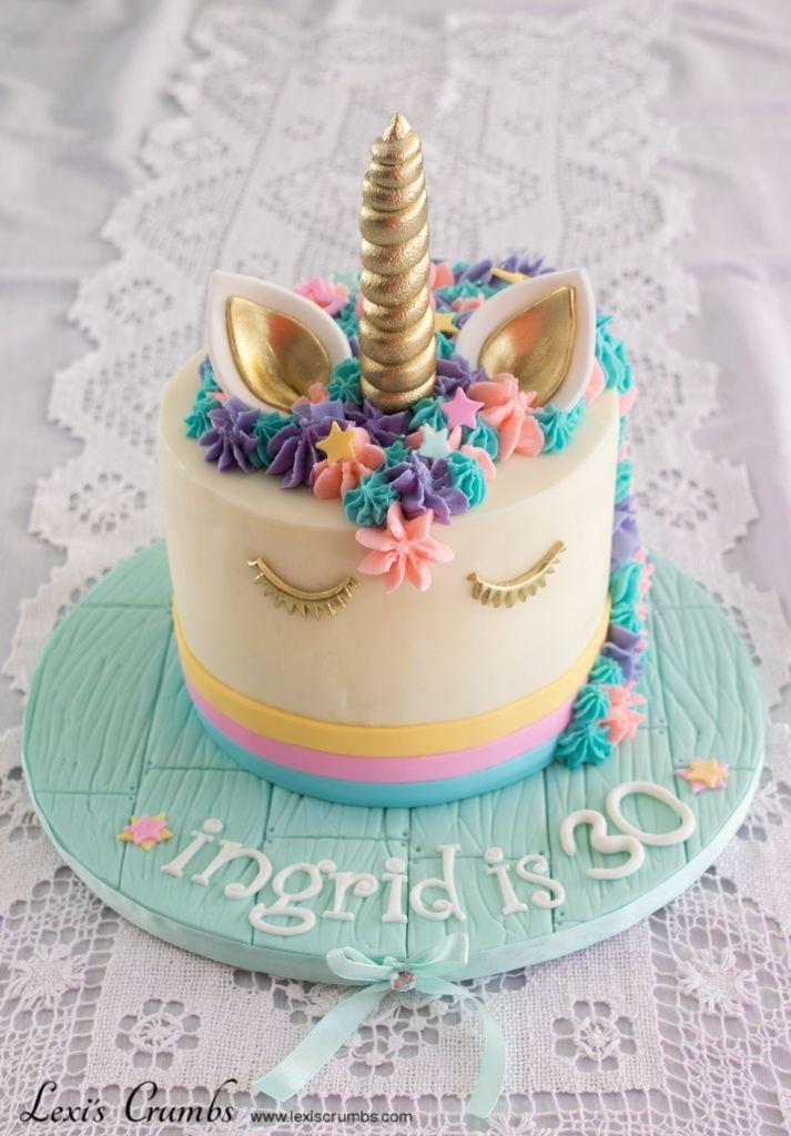 Unicorn cake www.lexiscrumbs.com