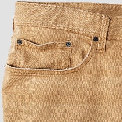 Men's Big & Tall Straight Fit Jeans - Mossimo Supply Co. Khaki 58x30, Beige