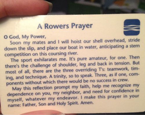 A rower's prayer #crew #rowing