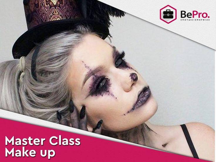 Master class makeup    Εξειδικεύσου στο μακιγιάζ για τον χώρο της μόδας και του θεάματος με αναγνωρισμένο δίπλωμα.   Σπούδασε Master Makeup Artist  σε ολιγομελή τμήματα με την καλύτερη ομάδα εκπαιδευτών.