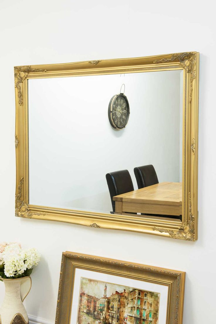 Buckland Gold Framed Mirror 140x109cm - Soraya Interiors UK
