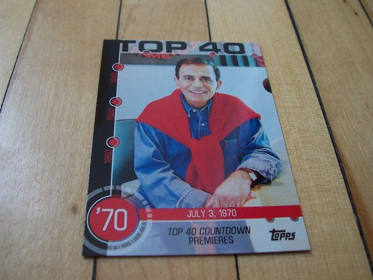 2015 Topps Baseball History #7A CASEY KASEM Top 40 Countdown Premieres Insert