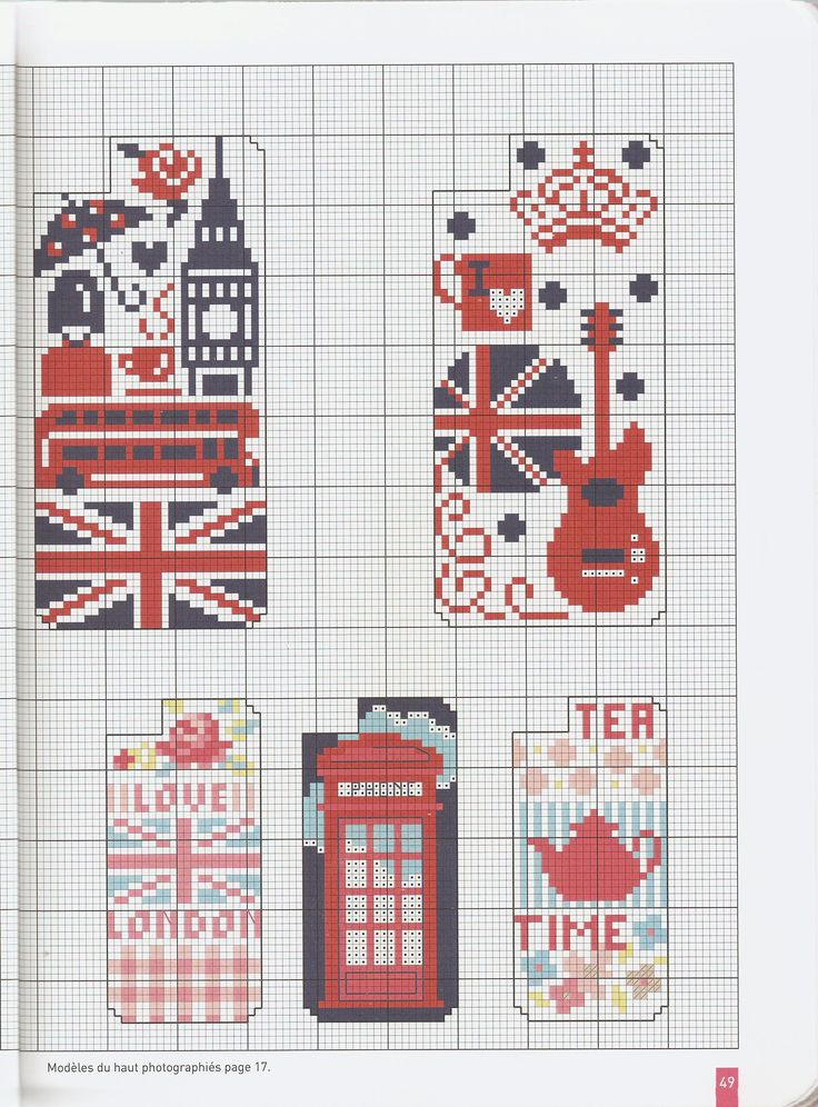Free London motif iPhone case cross stitch pattern #stitching #unionjack