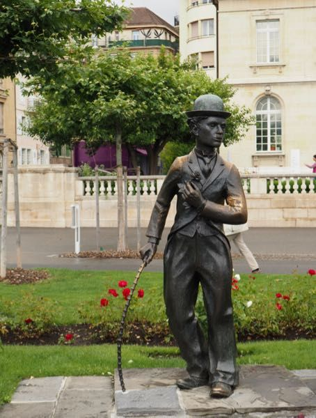 Charlie Chaplin sculpture on the Vevey boardwalk.In Vevey Switzerland, be sure to check out Chaplin's World which is a museum celebrating the life and work of Charlie Chaplin. http://www.francetraveltips.com/france-switzerland-vevey-charlie-chaplin/
