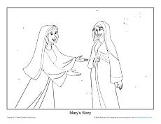 Free Printable Christmas Coloring Page About Marys Story For Church Sunday School Home Or Visit All Your Bible Activities