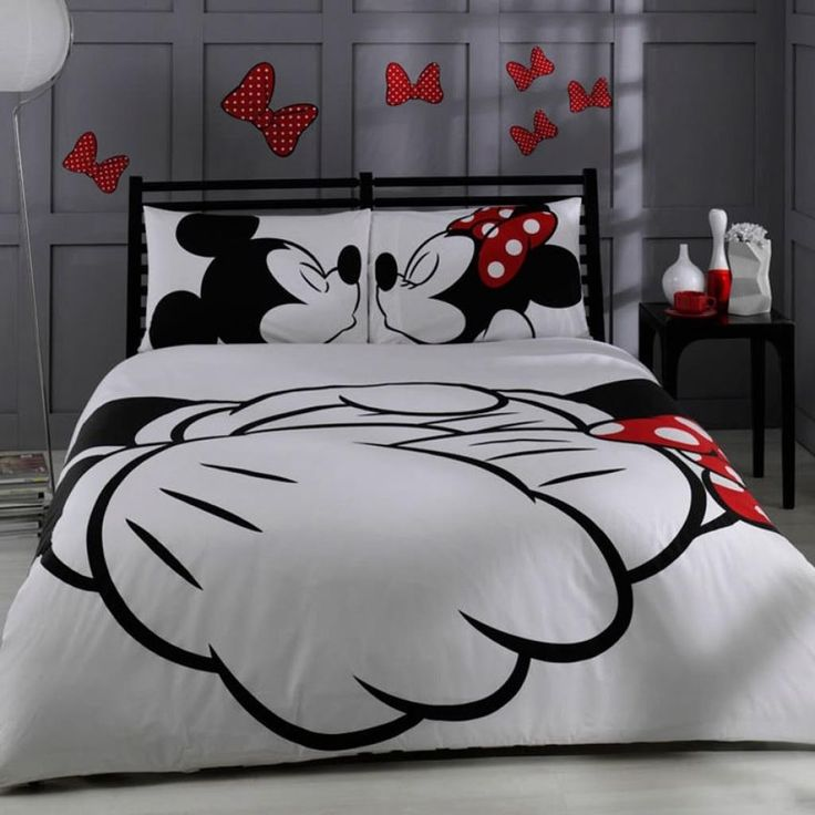 1 X Disney, Mickey & Minnie, Adore, Bedding Set, Double (Queen)