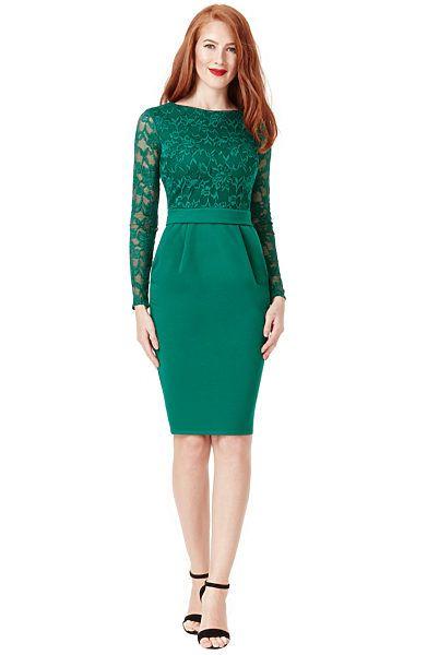 Zelené společenské šaty City Goddess Danielle