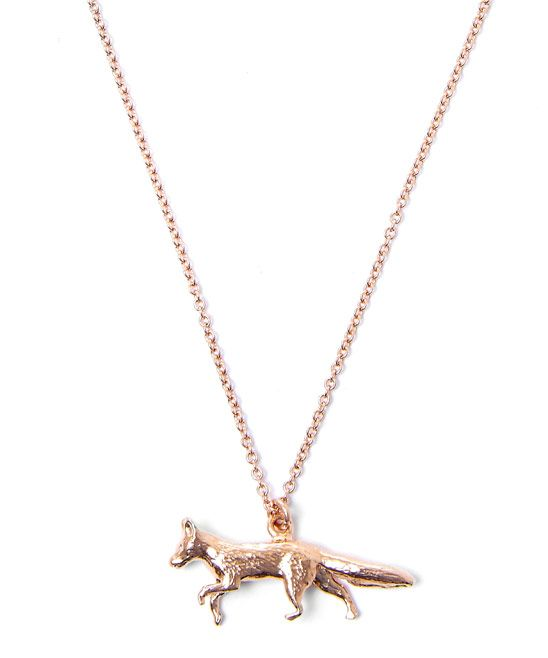 Rose Gold Fox necklace - Alex Monroe for Liberty London