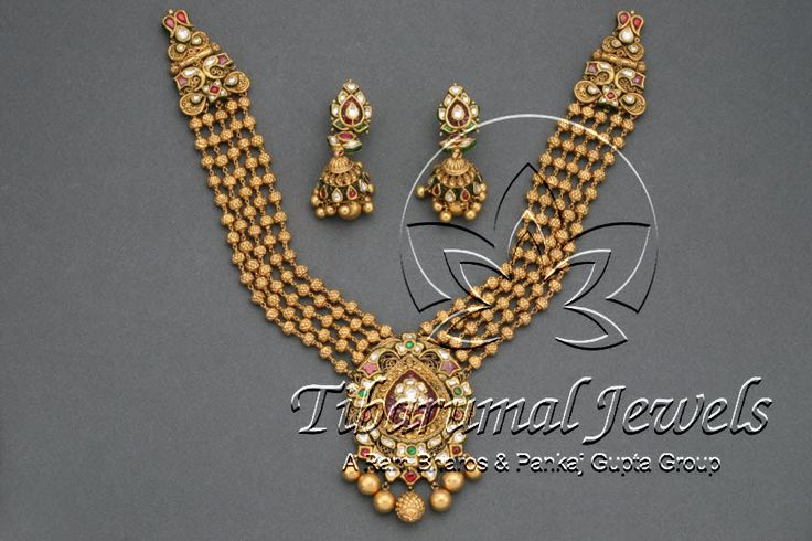 Gold Necklace Set | Tibarumal Jewels | Jewellers of Gems, Pearls, Diamonds, and Precious Stones
