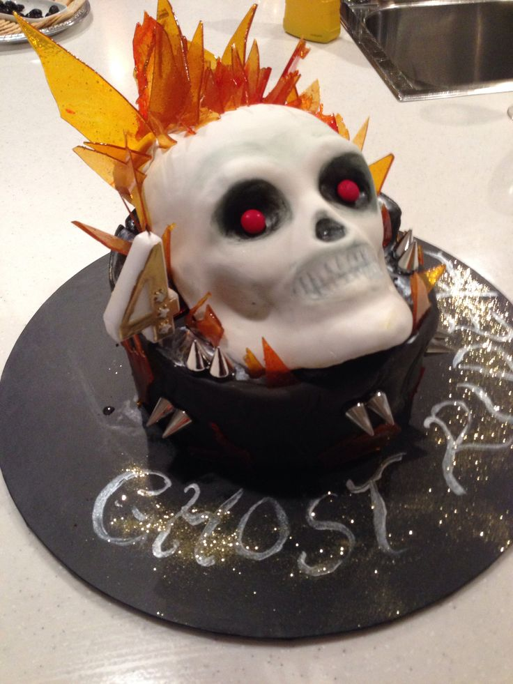 Ghost Rider Cake Topper