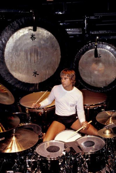 Carl Palmer - brilliant drummer for classical and progressive rock supergroup, Emerson, Lake & Palmer. Had previously worked in Atomic Rooster and subsequently in Asia.