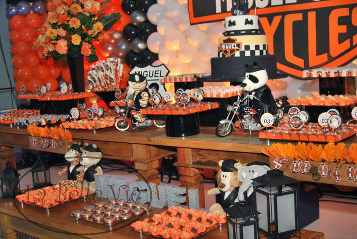 36 Best Harley Davidson Party Theme Images On Pinterest