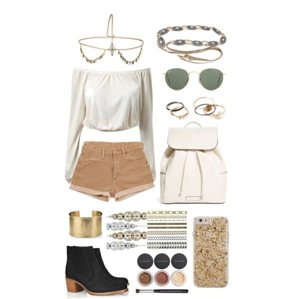 Music festival by brianaxbanana on Polyvore featuring Vera Bradley, Blue Nile, Forever 21, Topshop, Case-Mate, Galaxy Belts, Ray-Ban, Bare Escentuals, Wrangler and musicfestivalstyle