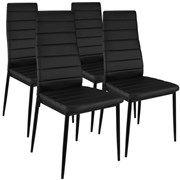 Lote de cuatro sillas Stratus negras