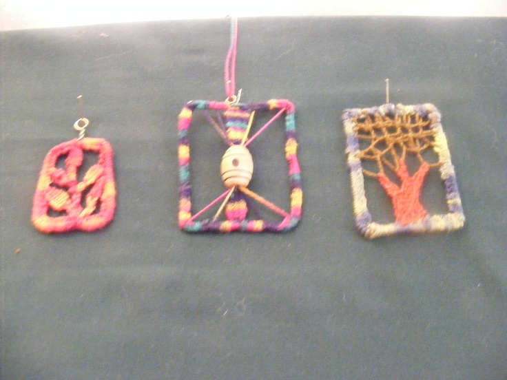 Some needlelace pendants made by James, my husband.