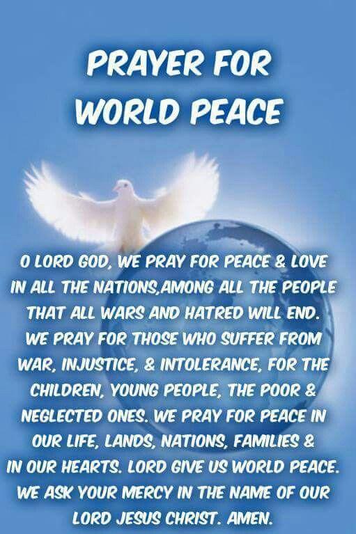 Prayer For World Peace | prayers | Pinterest | World ...