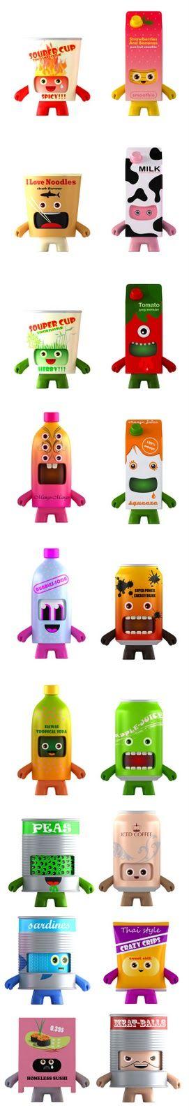 Sofunkylicious: Food Art Toyz