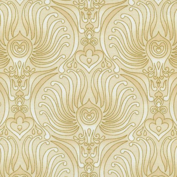 W796 Bronze Shimmer by Timeless Treasures - Plume Baroque - Ivory