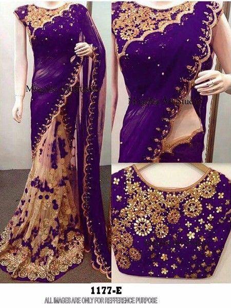 Indian Bollywood New Designer Saree Wedding Party wear Pakistani Lehenga Sari 1 #krishacreation #sareesari