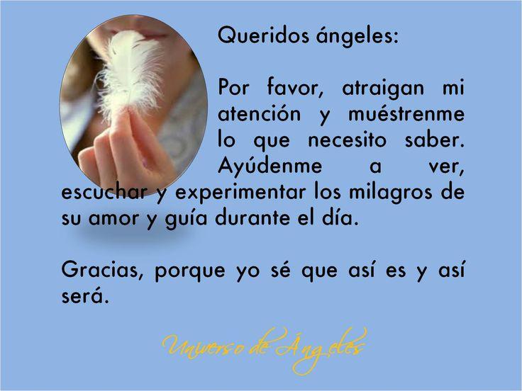 Afirmación que te ayudará a observar las señales de los ángeles.  #UniversoDeAngeles