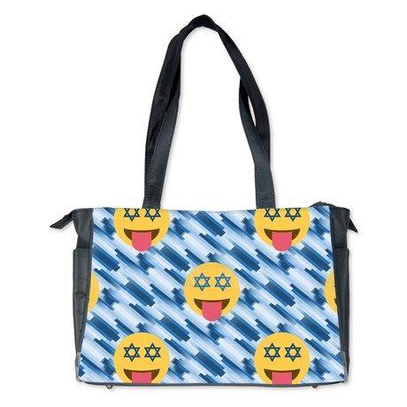 hanukkah chanukkah emoji Diaper Bag