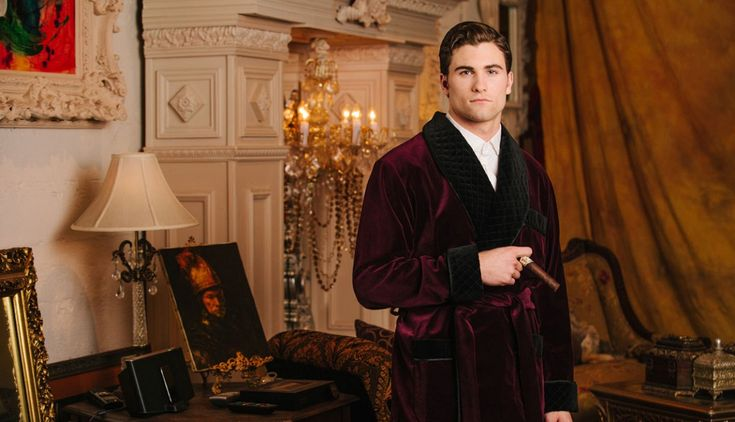 Smoking jacket is a name that needs no introduction. It is a garment that men wear to protect good clothes from tobacco's smell.