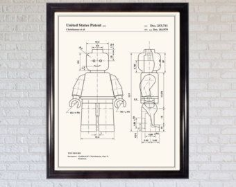 Vintage Lego Patent Print by michaelellisstudios on Etsy